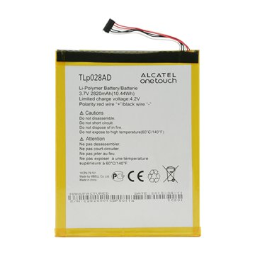 باتری اورجینال تبلت آلکاتل TLp028AD ظرفیت 2820 میلی آمپر ساعت-1