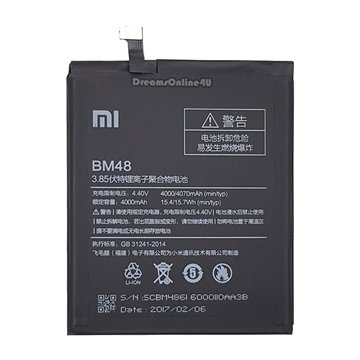 باتری اورجینال شیائومی Mi Note 2 مدل BM48 ظرفیت 4000 میلی آمپر ساعت
