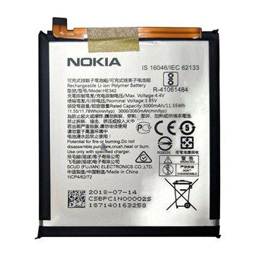 باتری اورجینال نوکیا 6.1 پلاس مدل HE342 ظرفیت 3000 میلی آمپر ساعت -1