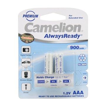 باتری نیم قلمی قابل شارژ کملیون مدل Always Ready ظرفیت 900 میلی آمپر ساعت بسته 2 عددی - 1