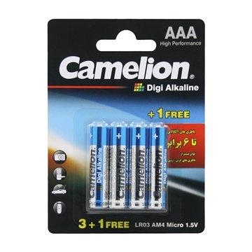 باتری نیم قلمی کملیون مدل Digi Alkaline LR03 بسته 4 عددی - 1