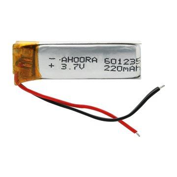 باتری 3.7 ولت اورجینال مدل 601235 ظرفیت 220 میلی آمپر ساعت-1