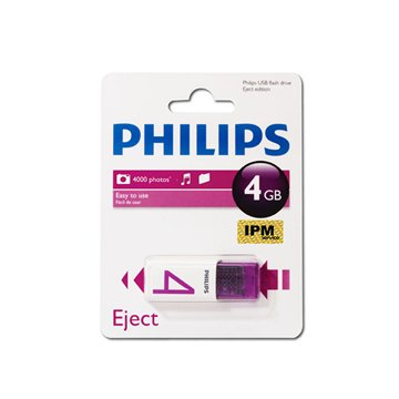 فلش مموری فیلیپس مدل Eject ظرفیت 4 گیگابایت - 1