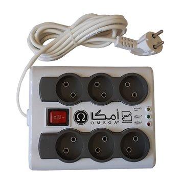 محافظ برق کامپیوتر امگا مدل P6000 طول 1.5 متر - 1