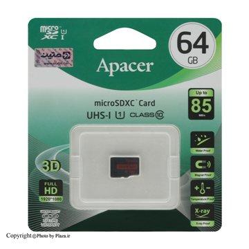 مموری کارت Micro SDXC اپیسر استاندارد UHS-I U1 ظرفیت 64 گیگابایت کلاس 10 - 1