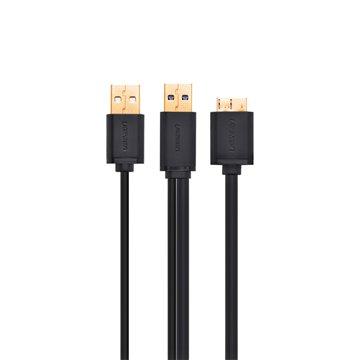 کابل تبدیل Micro-B به USB 3.0 و USB 2.0 یوگرین مدل US140-10382 طول 1 متر - 1