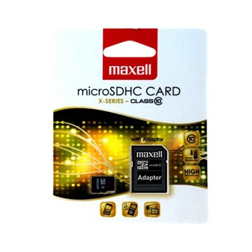 کارت حافظه Micro SDHC مکسل ظرفیت 4 گیگابایت کلاس 10 با آداپتور - 1