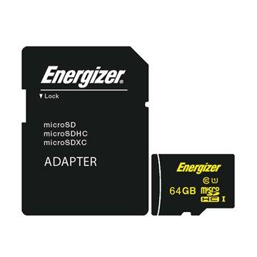 کارت حافظه Micro SDXC انرجایزر مدل HighTech استاندارد UHS-1 ظرفیت 64 گیگابایت کلاس 10 با آداپتور - 1