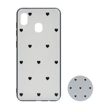 کاور پیونی مدل سامسونگ گلکسی A30 / A20 طرح Tiny hearts همراه با پاپ سوکت