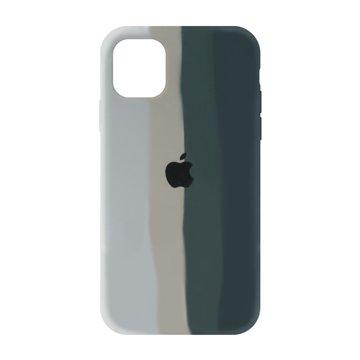 کاور TPU سیلیکونی پروتیا مدل اپل آیفون 11 طرح رنگین کمان Gray