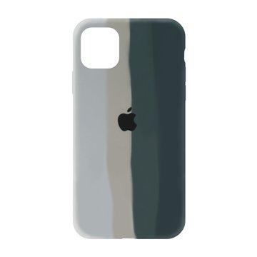کاور TPU سیلیکونی پروتیا مدل اپل آیفون 11 پرو مکس طرح رنگین کمان Gray