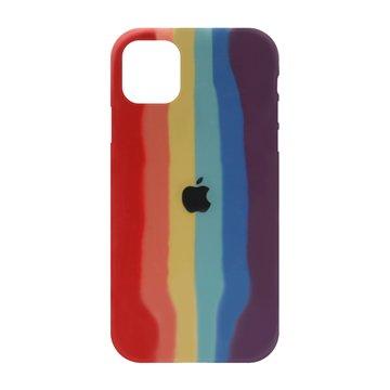 کاور TPU سیلیکونی پروتیا مدل اپل آیفون 11 پرو مکس طرح رنگین کمان Warm