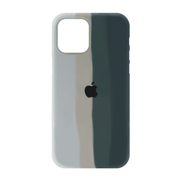 کاور TPU سیلیکونی پروتیا مدل اپل آیفون 12 پرو مکس طرح رنگین کمان Gray