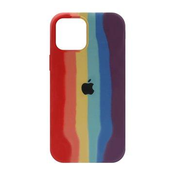 کاور TPU سیلیکونی پروتیا مدل اپل آیفون 12 پرو مکس طرح رنگین کمان Warm