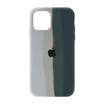 کاور TPU سیلیکونی پروتیا مدل اپل آیفون 12 / 12 پرو طرح رنگین کمان Gray