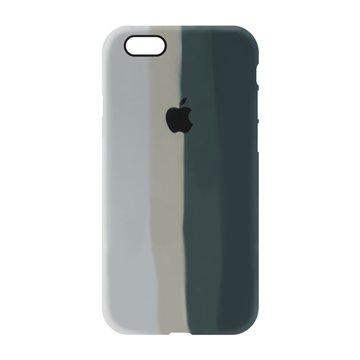 کاور TPU سیلیکونی پروتیا مدل اپل آیفون 6/6s طرح رنگین کمان Gray