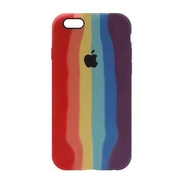 کاور TPU سیلیکونی پروتیا مدل اپل آیفون 6/6s طرح رنگین کمان Warm