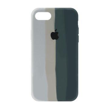 کاور TPU سیلیکونی پروتیا مدل اپل آیفون 7 / 8 طرح رنگین کمان Gray