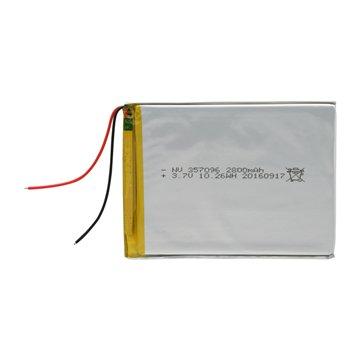 باتری 3.7 ولت اورجینال مدل 357096 ظرفیت 2800 میلی آمپر ساعت-1