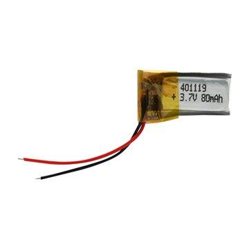 باتری 3.7 ولت اورجینال مدل 401119 ظرفیت 80 میلی آمپر ساعت-1