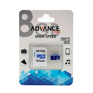 کارت حافظه Micro SDHC ادونس مدیا X533 ظرفیت 8 گیگابایت کلاس 10 با آداپتور