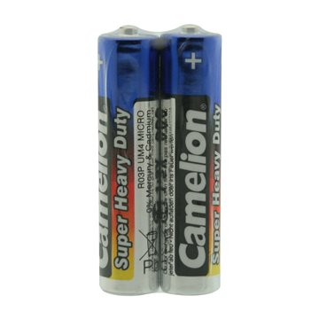 باتری نیم قلمی کملیون مدل R03P ظرفیت 600 میلی آمپر ساعت بسته 2 عددی