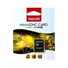 کارت حافظه Micro SDHC مکسل ظرفیت 16 گیگابایت کلاس 10 با آداپتور - 1