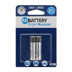 باتری نیم قلمی Mi مدل Super Alkaline LR03 بسته 2 عددی -1