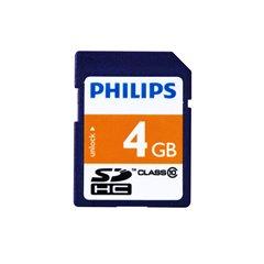 کارت حافظه SDHC فیلیپس ظرفیت 4 گیگابایت کلاس 10 - 1