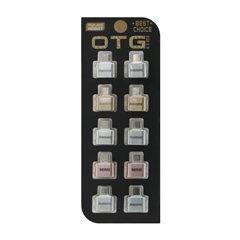 مبدل USB به Type-C ریمکس بسته 10 عددی-1