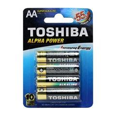 باتری قلمی توشیبا مدل Alpha Power BP-4 بسته 4 عددی - 1