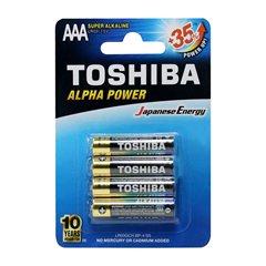 باتری نیم قلمی توشیبا مدل Alpha Power BP-4 بسته 4 عددی - 1