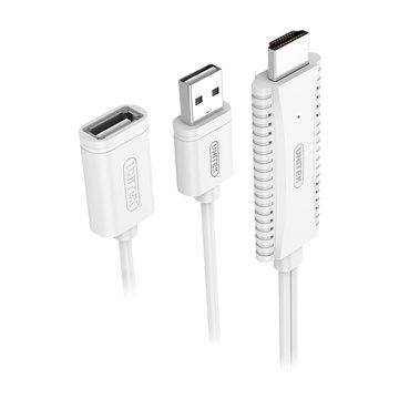 کابل تبدیل USB به HDMI یونیتک مدل M101A طول 1.95 متر