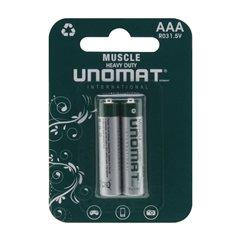 باتری نیم قلمی یونومات مدل Muscle Heavy Duty R03 بسته 2 عددی-1