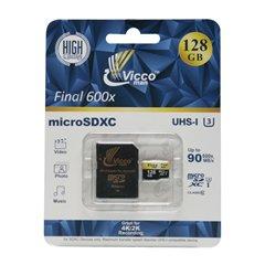 کارت حافظه Micro SDXC ویکومن Final 600X استاندارد UHS-I U3 ظرفیت 128 گیگابایت کلاس 10 با آداپتور