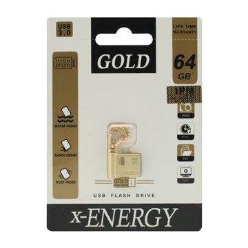 فلش مموری USB 3.0 ایکس انرژی مدل Gold ظرفیت 64 گیگابایت